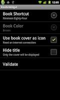 Screenshot of Kindle Widget