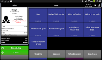 Screenshot of Kasse Speedy DEMO