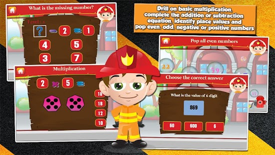 Fireman Kids Grade 2 Games - screenshot