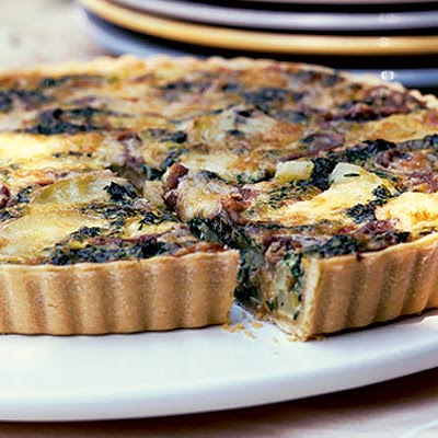 Fresh Spinach & Anchovy Tart