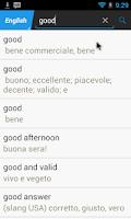 Screenshot of Italian English Translator