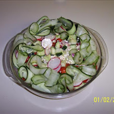 Beautiful Cucumber Salad