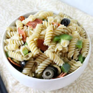 Pasta Salad With Green Olives And Italian Dressing Recipes