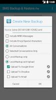 Screenshot of SMS Backup & Restore Pro