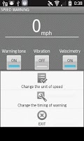 Screenshot of SPEED WARNING