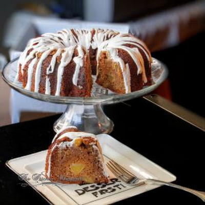 Apple Bundt Cake with Cinnamon Cheesecake Swirls