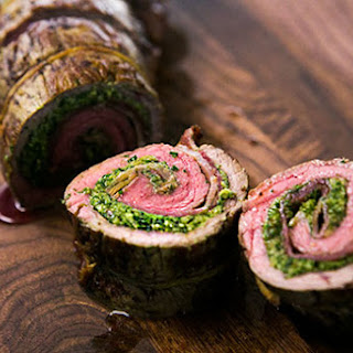 Beef Roulades with Walnut Parsley Pesto