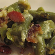 Baked Garlic Bacon Green Beans