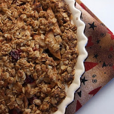 Apple- Cranberry Pie w/ Oatmeal Cookie Crust