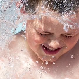 by Danielle Pedder - Novices Only Street & Candid ( child, splashing, pool, play, summer, fun, smile, boy )