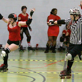 Winner by Neil Pho - Sports & Fitness Other Sports ( victory, sports, skating, roller derby, roller skates, women )