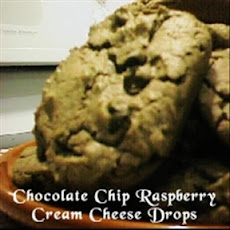 Chocolate Chip Raspberry Cream Cheese Drops