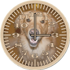 Dog 4 Retriever Analog Clock