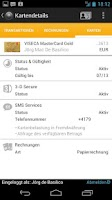 Screenshot of MyAccount Mobile Viseca