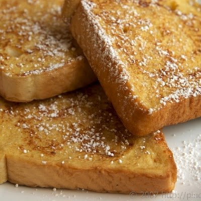 Spiked Egg Nog French Toast