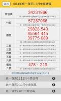Screenshot of 2014統一發票對獎