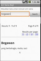 Screenshot of Arti Nama Bayi Indonesia