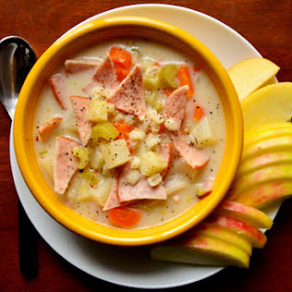 Crock Pot Potato, Barley & Canadian Bacon Soup