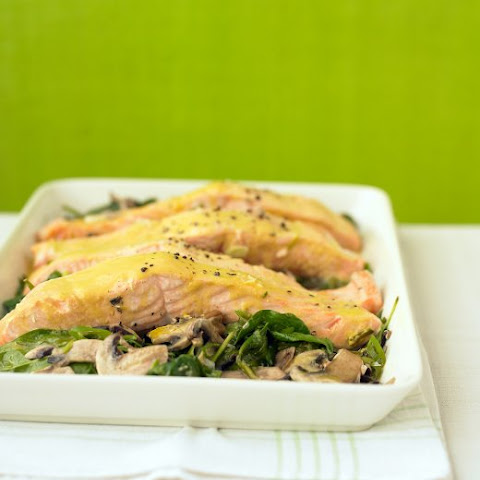 Salmon with Orange-Mustard Sauce