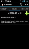 Screenshot of BWished [Auto Birthday Wishes]