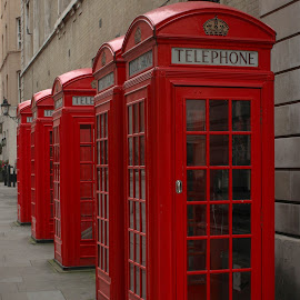 Phone home by Phil Newman - Novices Only Objects & Still Life ( red, telephone box, london, street, city )