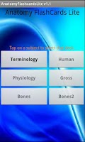 Screenshot of Anatomy Flashcards Lite