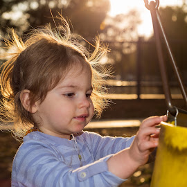 Little Ray of Sunshine by Geoff Ferrer - Babies & Children Children Candids ( playing, child, child playing, park, girl playing, sun )