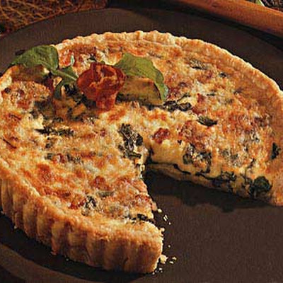 Arugula and Bacon Quiche