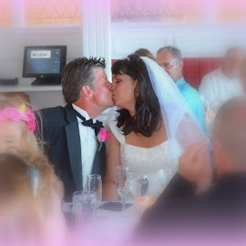 Wedding kiss - Mackinaw Island by Gaynel . - Wedding Bride & Groom