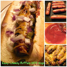 Easy Cheesy Buffalo HOT dogs