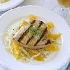 Gluten Free Grilled Swordfish with Orange Fennel Salad