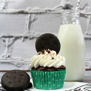 Thin Mint Chocolate Cupcake