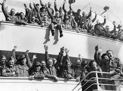 Australian Soldiers leaving port for the Second World War