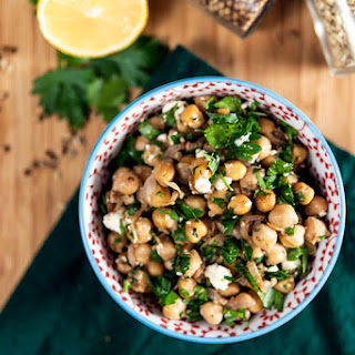 Spiced Chickpeas with Feta and Preserved Lemon