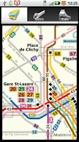 Screenshot of Paris Bus Metro Train Maps