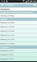 Screenshot of Entsorgung Bern
