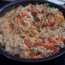 Asian Pork/Chicken & Noodle Skillet-Pampered Chef