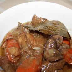 Crock Pot Venison Stew With Bacon and Mushrooms