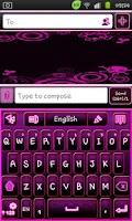Screenshot of Go Keyboard Emo Punk Theme