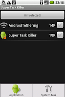 Screenshot of Super Task Killer