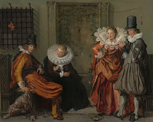 RIJKS: Willem Pietersz. Buytewech: Elegant Couples Courting 1620