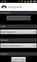 Screenshot of Simple Analytics Widget