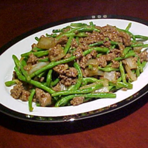 Chinese Long Beans With Ground Beef