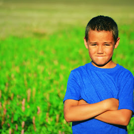 What smile? by Kallie Snyder - Babies & Children Children Candids ( idaho, trees, summer, kids, boy,  )