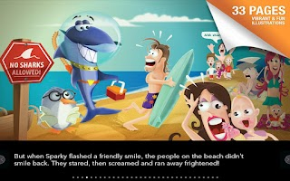 Screenshot of Sparky Shark - Children's Book