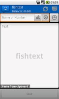 Screenshot of WebSMS: Fishtext Connector