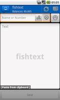 Screenshot of WebSMS: Fishtext Connector