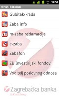 Screenshot of m-zaba za poslovne subjekte