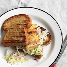 Grilled Fish Sandwich with Cabbage Slaw