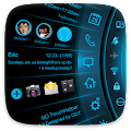 Download Blue Light Toucher Theme GO APK for Android Kitkat